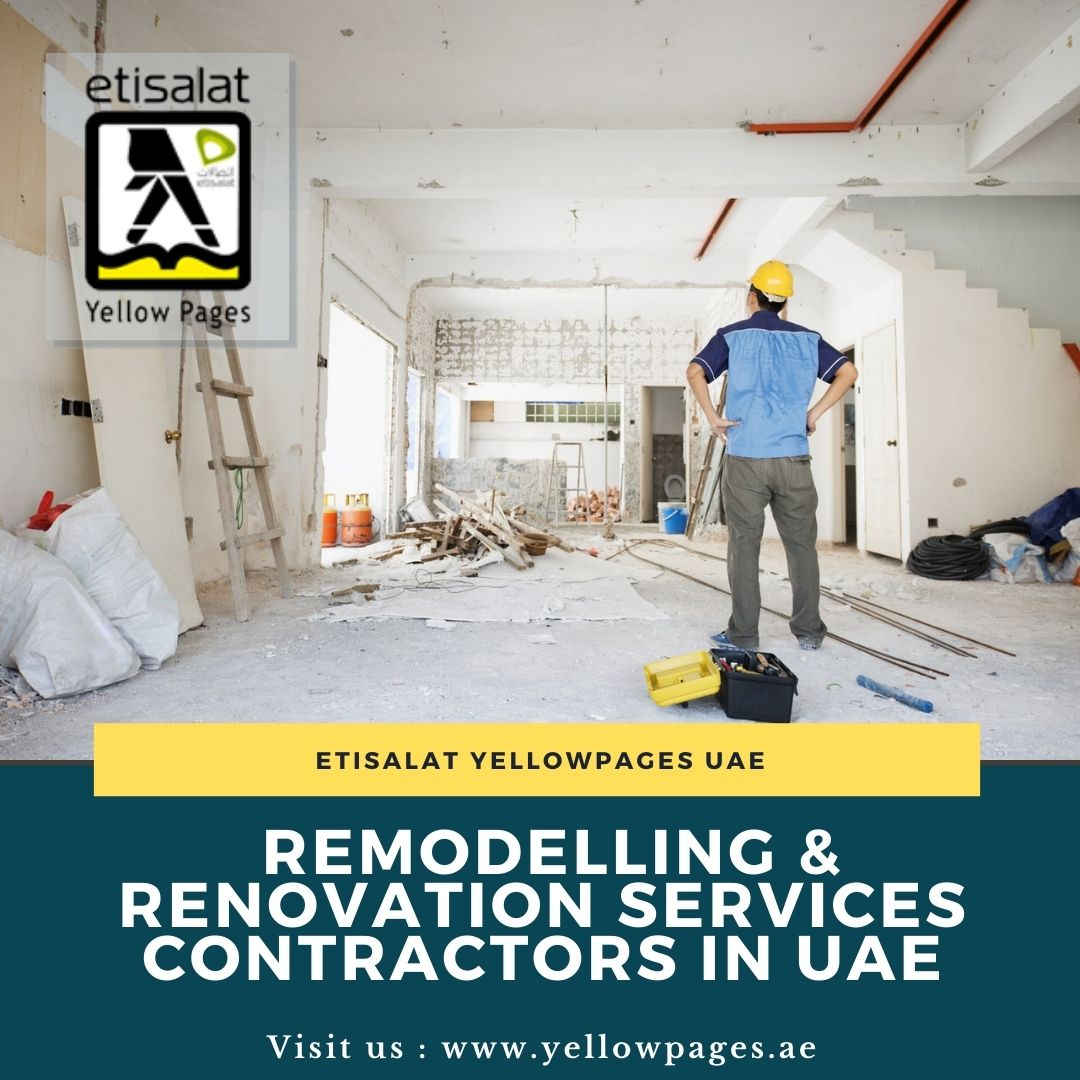 List of Remodelling & Renovation Services Contractors in UAE